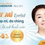 Khai trương Bệnh viện thẩm mỹ Kangnam – OFF 25% Hết hoàn toàn sụp mí, da chùng mí mắt