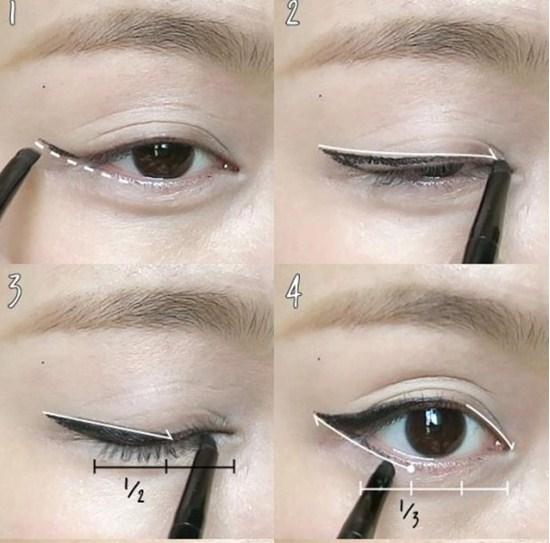 Cách kẻ mắt bằng chì