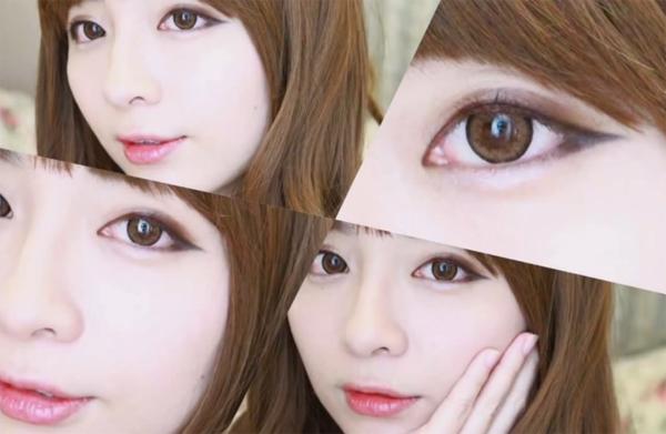 Trang điểm mắt kiểu Hàn Quốc với kẻ mắt cún