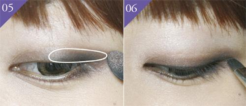 Bước thứ 3 trong quy trình trang điểm mắt mèo