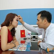 Chữa sụp mí bẩm sinh công nghệ Hàn Quốc tại tmv Kangnam
